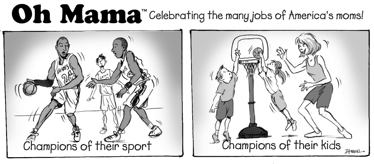 "Sportsmanship: ""basketball chions"" cartoon"