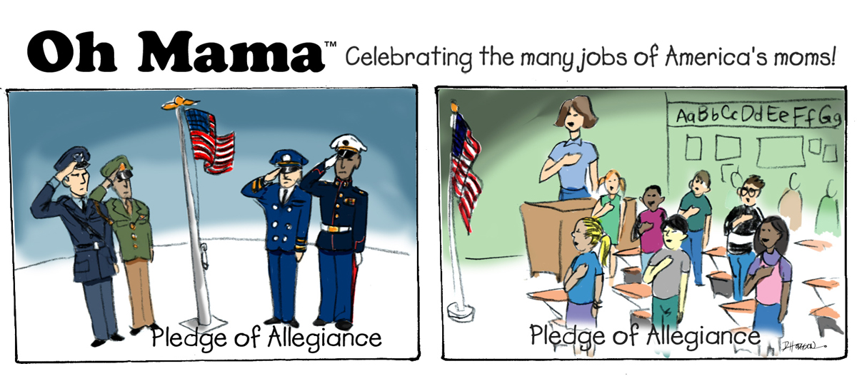 "TRADITIONS: ""Pledge Of Allegiance"" Cartoon � O-MAMA"